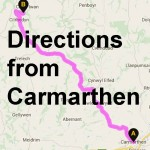Find us when coing from Carmarthen